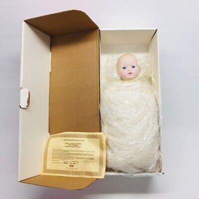 "1983 Ideal Tiny Tears 14"" Porcelain Doll Pink Box Molded Hair Pillow Bottle COA, used for sale  Pickerington"