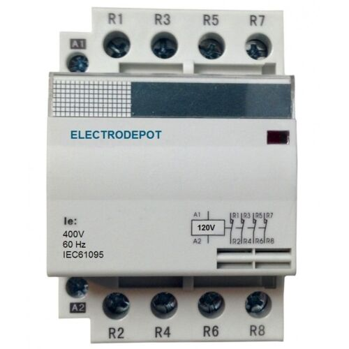 40AMP Contactor Normally Closed (NC) 4 Pole 120V coil, 30a Lighting 40A 60A IEC