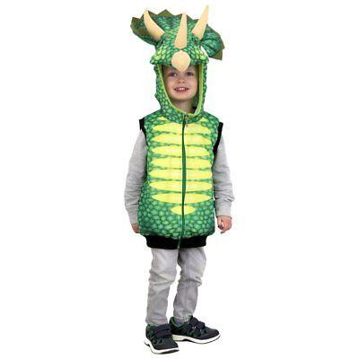 Costume-vest for Carnival children Dinosaur Triceratops (Triceratops Costume For Kids)