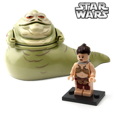 Jabba the Hutt Princess Leia Minifigure Star Wars Figure For Custom Lego