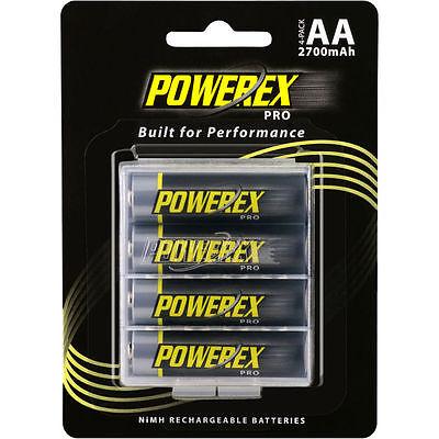 4 Aa 2700mah Nimh Batteries (Powerex Pro Rechargeable AA NiMH Batteries [2700mAh, 1.2V])