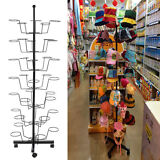 Retail 35 Hat Rack Cap Display Rotating Spinner Store Floor Stand Hat Holder New