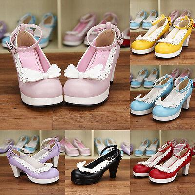 lita Schuhe Shoe Pumps High Heel kawaii Cosplay Kostüm Anime (Kostüm Heels)