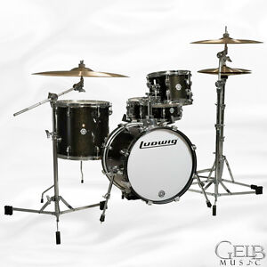 Ludwig Breakbeats by Questlove 4-Piece Shell in Black Sparkle