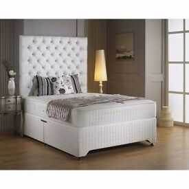 【❋❋ DON'T MISS OUT ❋❋ 】FULL FOAM BED DOUBLE DIVAN BED BASE WITH FULL FOAM MATTRESS (WITHOUT SPRING )