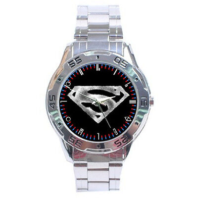 Superman The Blur Logo Smallville Stainless Steel Watch