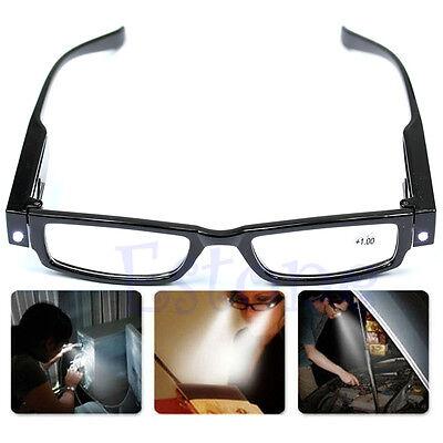Multi Strength Glasses Eyeglass Spectacle Diopter Magnifier LED Light UP Reading](Light Up Eyeglasses)