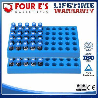 2pcs Vial Rack For 50 Standard 12mm 2ml Vials Stackable Centrifuge Tube Rack New