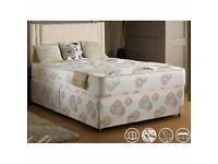 💗💗FREE DELIVERY💗💗 90% Off 💗 NEW Double or King Divan Bed w 13 inches Super Orthopaedic Mattress