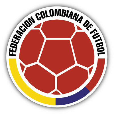Colombia National Team Retro Soccer Football Car Bumper Sticker Decal 5'' x 5'' - Soccer Stickers