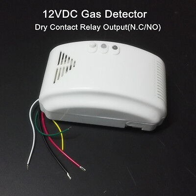 12v Lp Gas Alarm - 12V RV PROPANE ALARM LP  Gas Detector with N.C NO Output Camper RV Trailer Boat
