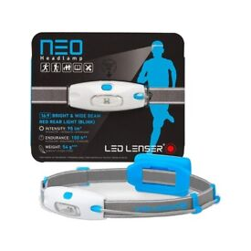 Brand New LED Lenser NEO headtorch - 90 lumens head torch light - enhanced 16x9 wide beam
