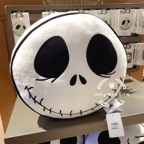 New Genuine Shanghai Disney Halloween Skull Cushion Pillow