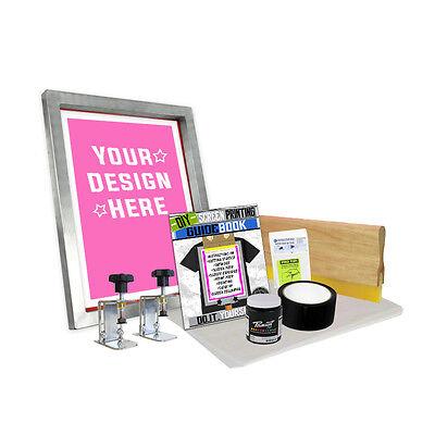Diy Screen Clamp Kit With Pre-burned Screen Printing Starter Beginner 00-5