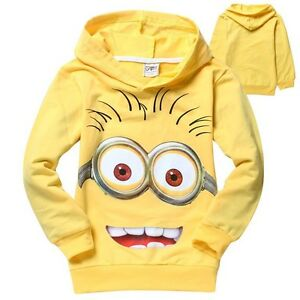 IAM MINIONS DESPICABLE ME KIDS COTTON JUMPER HOODIE TOP *NEW* RARE SALE!!!