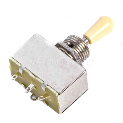 Toggle Switch Replacement Parts : Way guitar toggle switch w cream cap for gibson lp