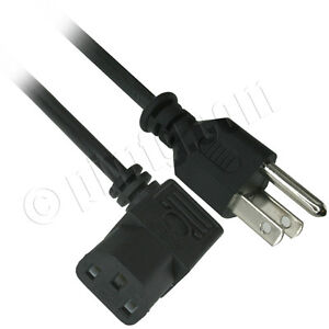 6ft 18AWG AC Right Angle Power Cord (NEMA 5-15P to IEC 60320C14), UL Listed - Bl