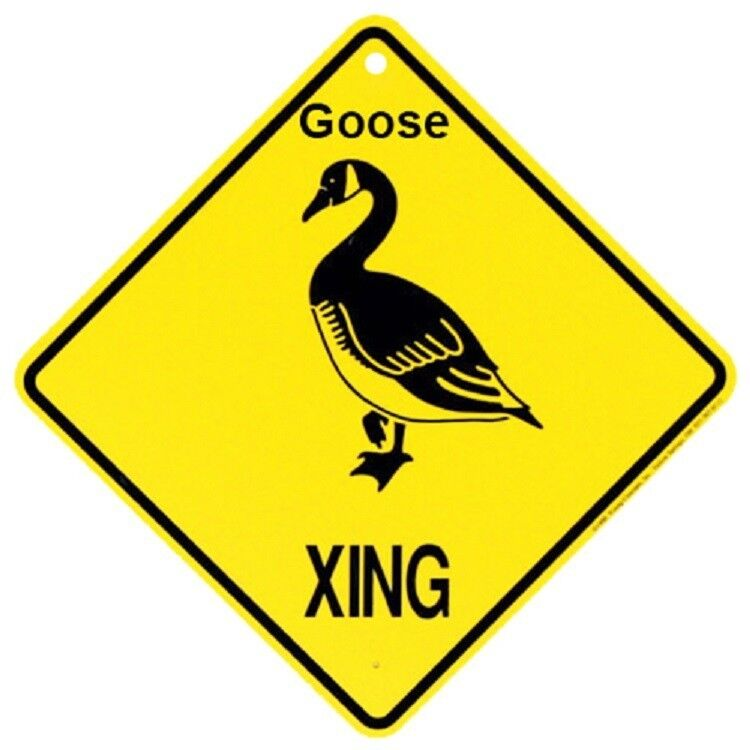 Goose Crossing Xing Sign New