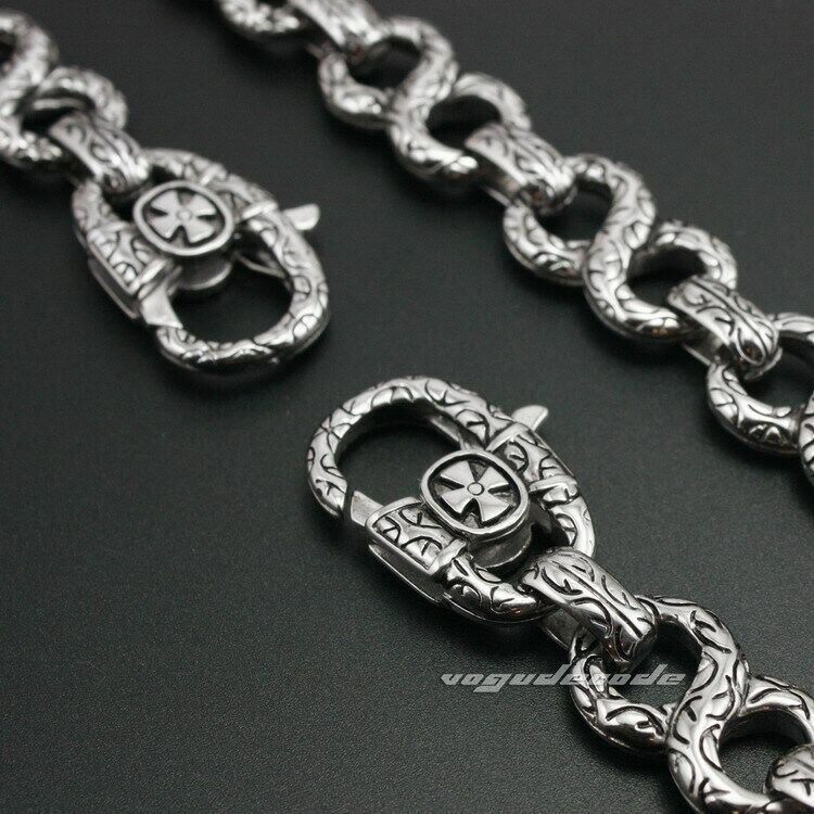 Gothic Cross Stainless Steel KeyChain Mens Biker Wallet Chain 4B006WCA 3P6