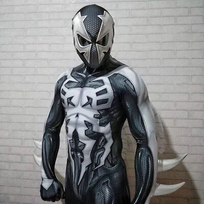 Spider Man Muscle Costume (2099 Ultimate Spider-Man Jumpsuit Costume Spiderman Muscle Zentai Suit)