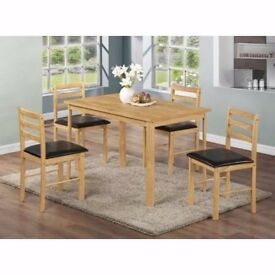*****BEST SELLING BRAND***** ===70% NEW YEAR DISCOUNT=== ORLANDO WOODEN DINING TABLE WITH 4 CHAIRS