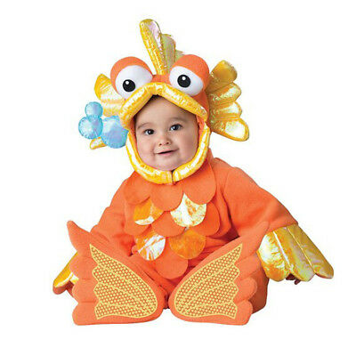 Gold Fish Baby Babygrow Halloween Outfit Kids Animal Toddler Fancy Dress Costume