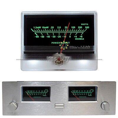 Vu Panel Meter Audio Power Amplifier Indicator Db Table Level Header Back Light