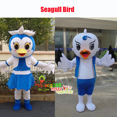 Seagull Bird Mascot Dress Adult Party Seabird Costume - Seagull Kostüm