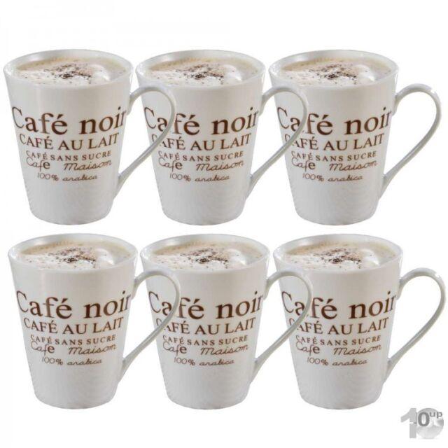 6 Stück caterado by Esmeyer Kaffeebecher Fakt weiß Kaffeetasse mit Aufdruck