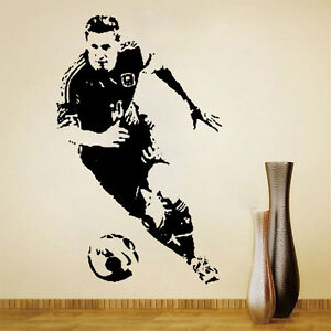 Soccer Football player Sports Wall stickers Removable decals home Bedroom Decor