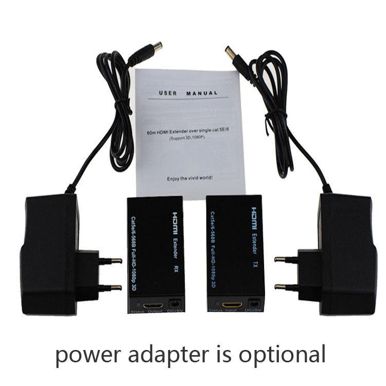 1080P HDMI Extender Over Single Network Cable CAT5E CAT6//7 Ethernet RJ45 Lan 60M