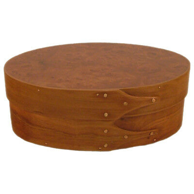 Cherry and Carpathian Elm Burl Wood Cremation Urn in Shaker Style (Up to 28 Lbs) for sale  Shipping to Canada
