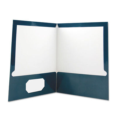 Universal Laminated Two-pocket Folder Cardboard Paper Navy 11 X 8 12 25pack