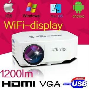 Smart HDMI VGA Projector LED lumens  HIGH Quality LOW Price Projecteur intelligent cinéma maison