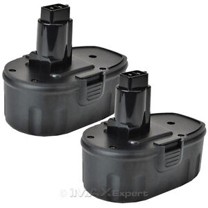 2 x 18V 18 VOLT BATTERY FOR DEWALT DE9095 DC9096 DW9095