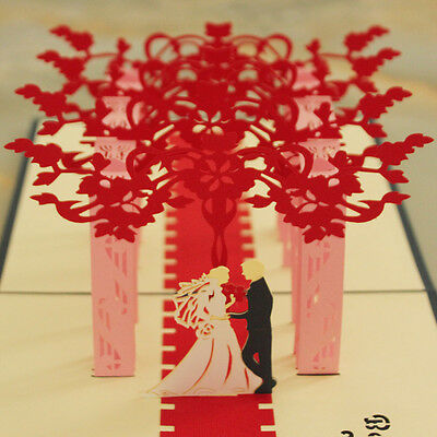 3D card Wedding marriage card - Red carpet (buy 3 get 1 free)](Red Carpet Buy)