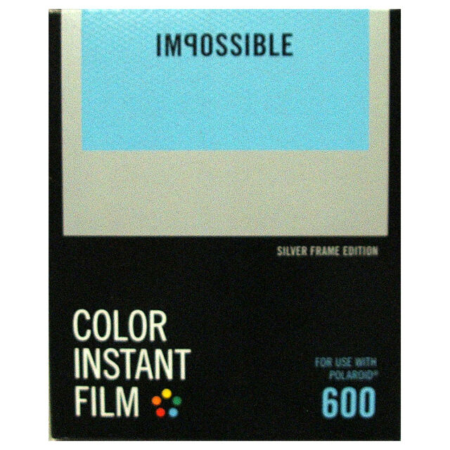 Impossible 600 Type Instant Film with SILVER Borders - NEW VERSION