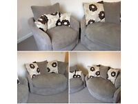 Cuddle couch and chair