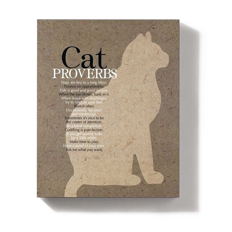 """Wall Hanging  """"CAT PROVERBS""""   Wall Hanging   8"""" X 10""""     Jozie B,"""