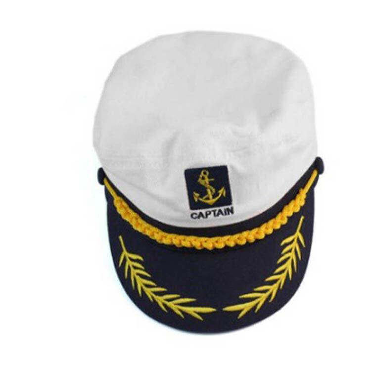 Details about Skipper Ship Sailor Navy Hat Yacht Military Captain Cap  Nautical Period #roots