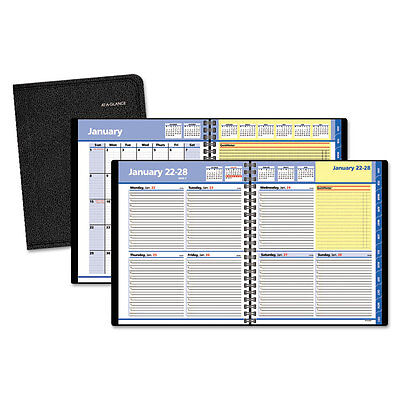 At-A-Glance QuickNotes Weekly/Monthly Appointment Book 8 x 9 7/8 Black 2018