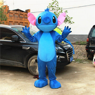 Lilo&Stitch Mascot Costume Disney Dress Adult Parade New Style Halloween Outfit](Adult Mascot)