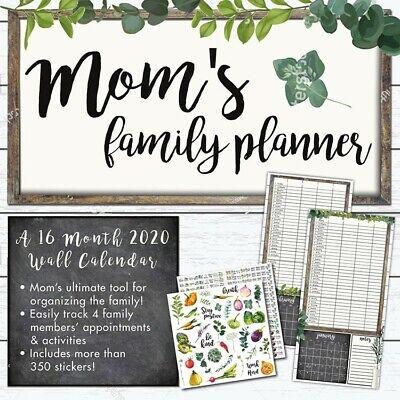 Moms family wall calendar 2019 - OC2O™