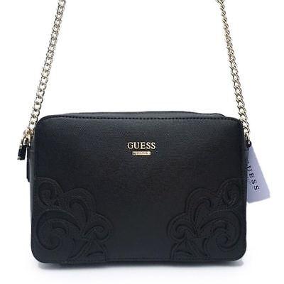 DEVYN Mini Saffiano Crossbody Handbags Top Zip Bags Black Purse NWT AP642112