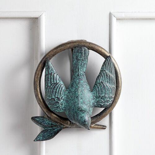 Bird On Branch Door Knocker Ring Doorknocker Lovebird SPI Home 34806