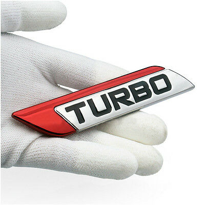 Metal Red Turbo Charger Decal Emblem Badge Sticker For  A3 A4 A6
