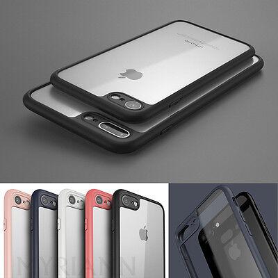 Pr iPhone 8 7 6S PLUS X Housse Etui Antichocs Coque clair Bumper TPU Case Cover