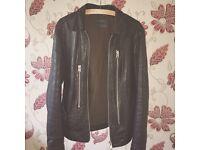 Men's AllSaints Black Leather Jacket