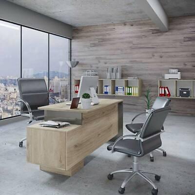 Arredo ufficio completo mobile TIME 3 rovere antracite salvaspazio studio modern