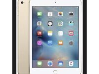 "APPLE IPAD MINI 4 16GB WIFI 7.9"" GOLD WHITE BOXED WITH 2 CASES SCREEN PROTECTOR"